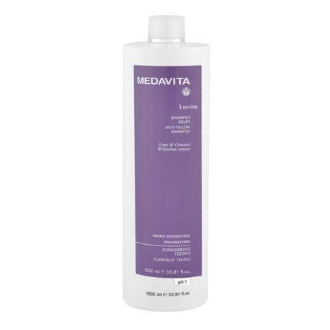 Medavita Lunghezze Luxviva Shampoo silver pH 7,  1000ml