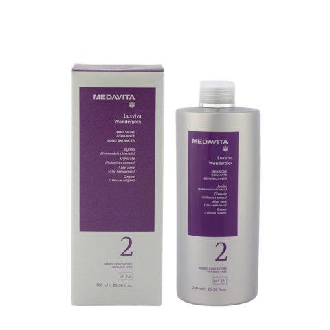 Medavita Lunghezze Luxviva Wonderplex Step2 750ml - emulsione sigillante