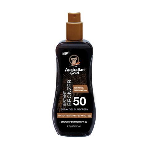 Australian Gold Protezioni Solari SPF50 Spray Gel con Bronzer 237ml