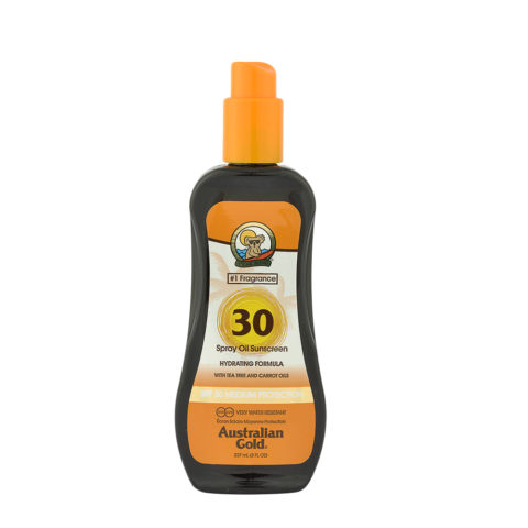 Australian Gold Protezioni Solari SPF30 Spray Oil con Carrot 237ml - olio spray con carota