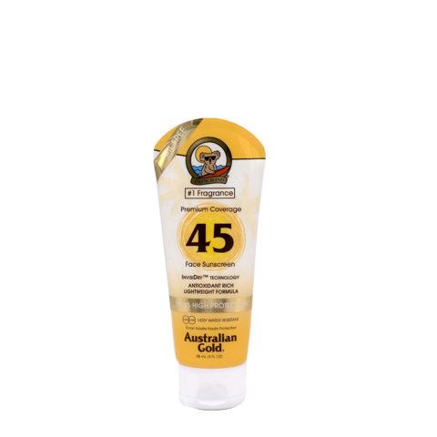 Australian Gold Protezioni Solari Premium Coverage SPF45 Lozione viso con bronzer 88ml