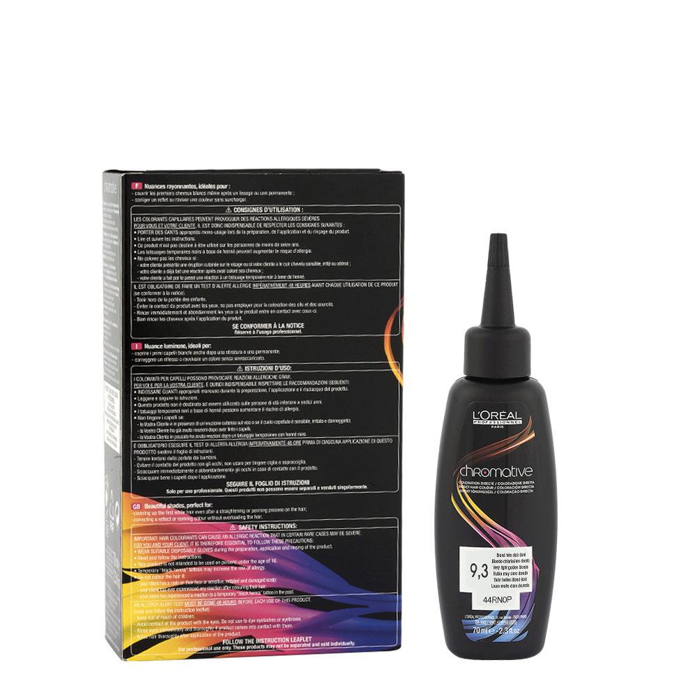 9.3 Biondo chiarissimo dorato L'Oréal Chromative 3x70ml - colore diretto senza ammoniaca