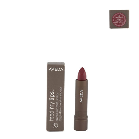Aveda Feed my lips Pure Nourish Mint Lipstick 3.4gr blushed plum 09 - rossetto rosso lampone freddo