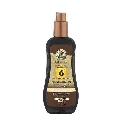 Australian Gold Protezioni Solari SPF6 Spray Gel con Bronzer 237ml