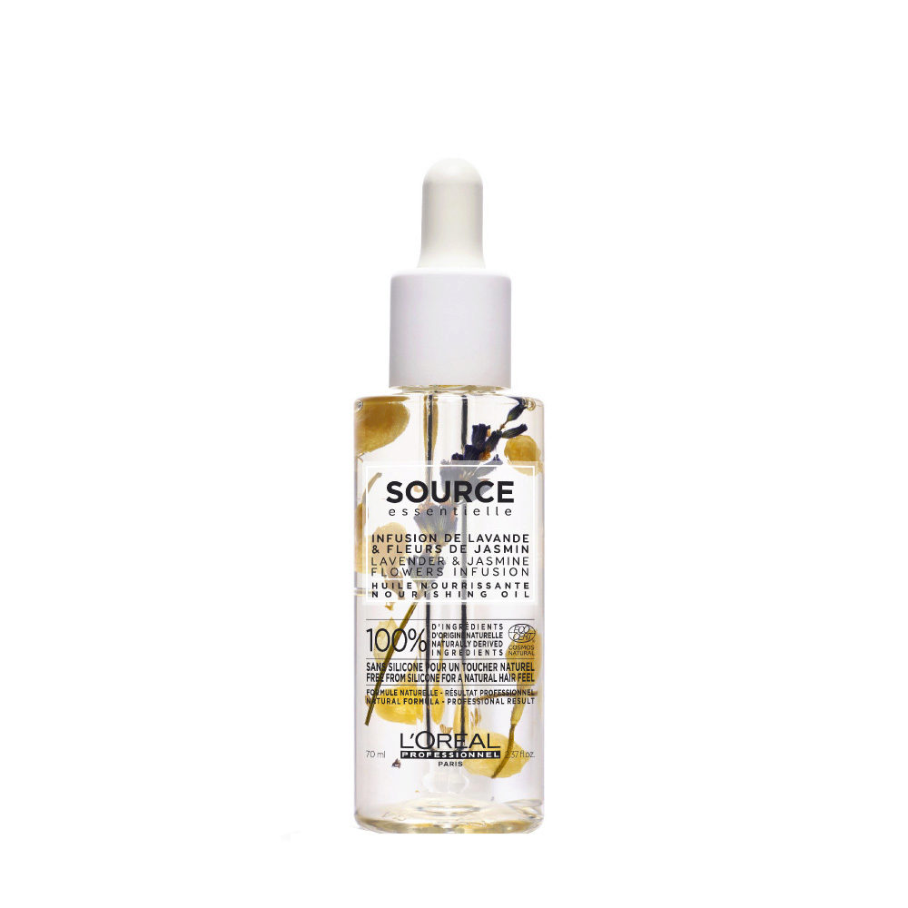 L'Oréal Source Essentielle Lavender & jasmine flowers infusion Nourishing oil 70ml - Olio nutriente