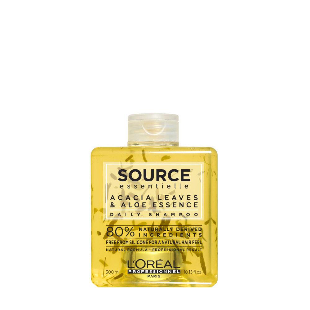 L'Oréal Source Essentielle Acacia leaves & aloe essence Daily Shampoo 300ml - shampoo naturale uso quotidiano