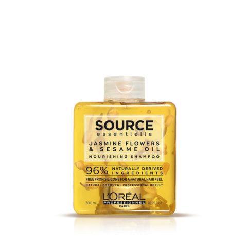 L'Oréal Source Essentielle Jasmine flowers & sesame oil Nourishing Shampoo 300ml - shampoo idratante anticrespo naturale