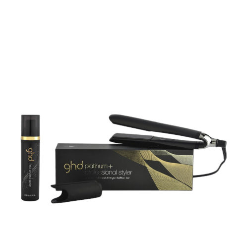 GHD Kit piastra Platinum + Styler nera  Heat protect spray 120ml