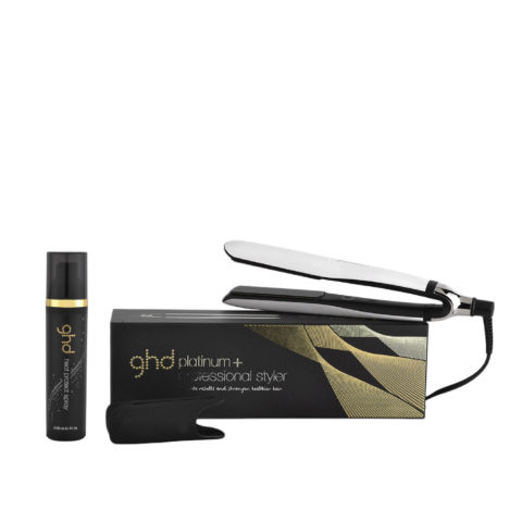 GHD Kit piastra Platinum + Styler bianca  Heat protect spray 120ml