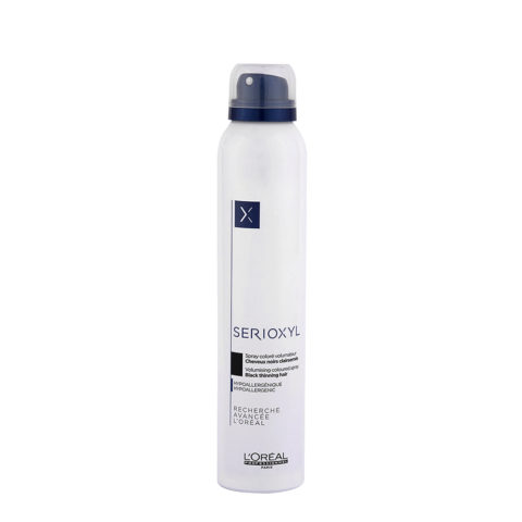L'Oreal Serioxyl Volumising Coloured Spray Black 200ml - spray colorato nero volumizzante