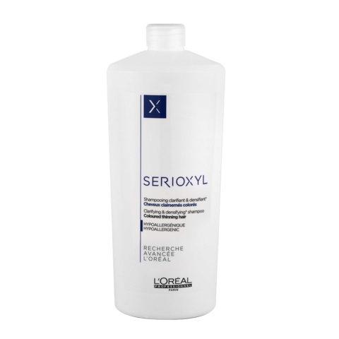 L'Oreal Serioxyl Clarifying densifying Shampoo 1000ml - ridensificante per capelli colorati