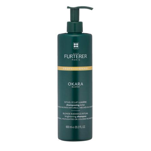 René Furterer Okara Blond Brightening Shampoo 600ml - Per Capelli Biondi Naturali, Tinti, Con Meches O Colpi Di Sole