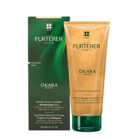 René Furterer Okara Blonde Radiance Shampoo 200ml - Per Capelli Biondi Naturali, Tinti, Con Meches O Colpi Di Sole