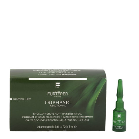 René Furterer Triphasic Reactional Anti-Hair Loss Treatment 24x5ml - Fiale Anticaduta Improvvisa