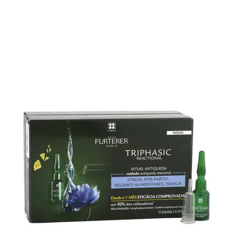 René Furterer Triphasic Reactional Anti-Hair Loss Treatment 12x5ml - Fiale Anticaduta Improvvisa