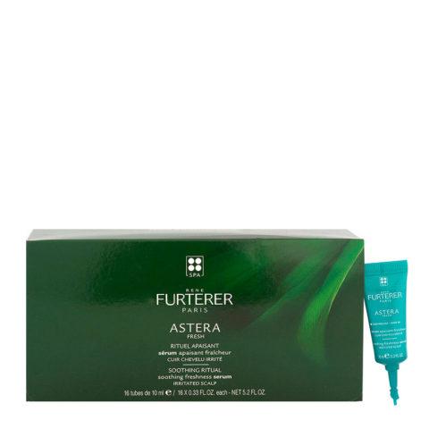 René Furterer Astera Fresh Soothing Ritual Soothing Freshness Serum 16x10ml - Siero Lenitivo Rinfrescante Cute Irritata