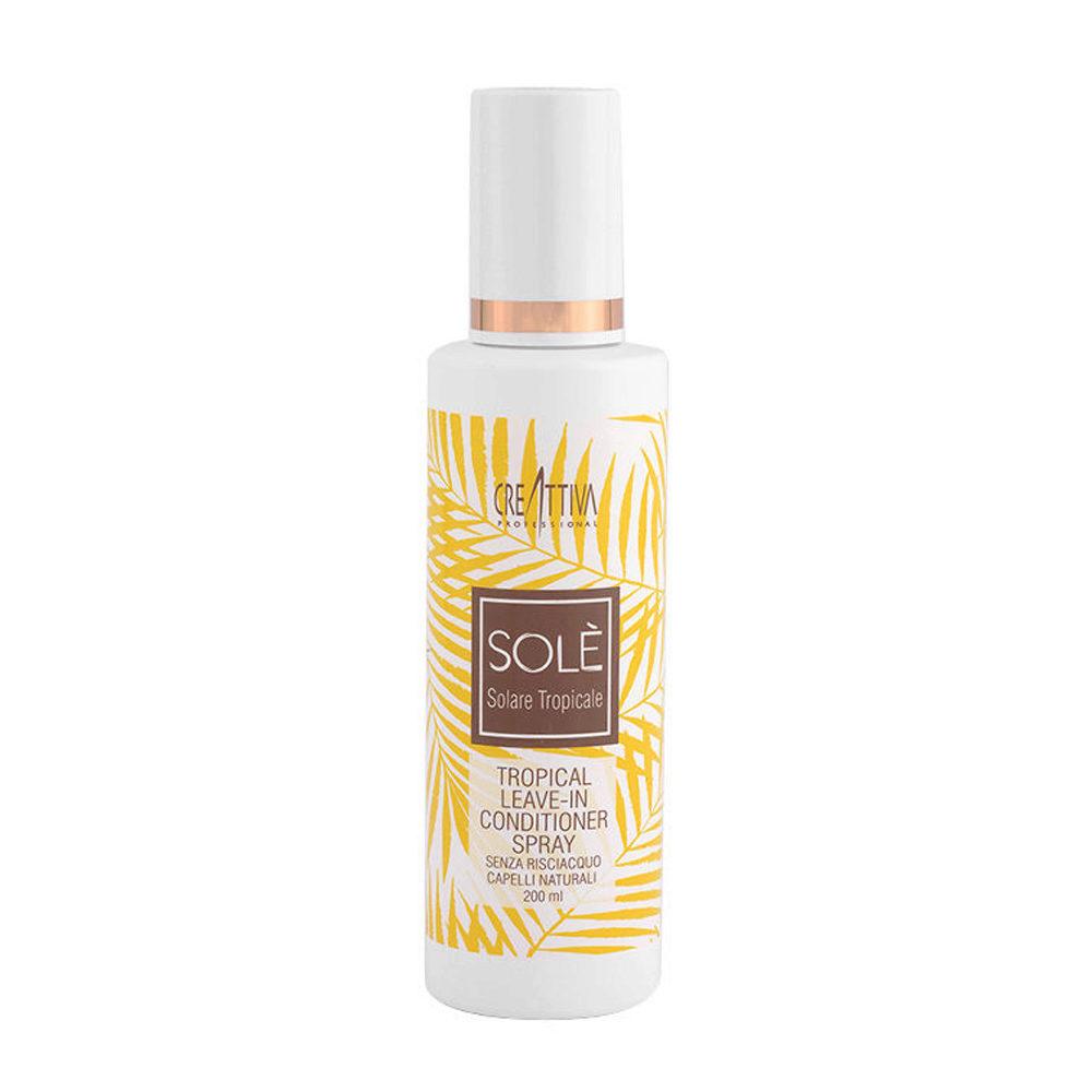 Creattiva Solè Tropical Leave-in Conditioner Spray Capelli Naturali 200ml - balsamo spray