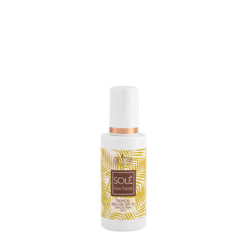 Creattiva Solè Tropical Rich Oil SPF 15 Capelli Corpo 150ml - Olio Protezione Solare