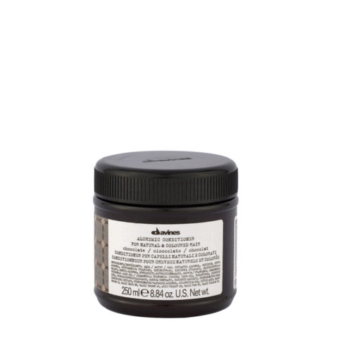 Davines Alchemic Conditioner Chocolate 250ml - balsamo riflessante per capelli neri