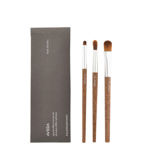 Aveda Flax Sticks Set di 3 Pennelli Special Effect n 5 Sfuma Matita n 6 Contorno Occhi n 8 Fondotinta