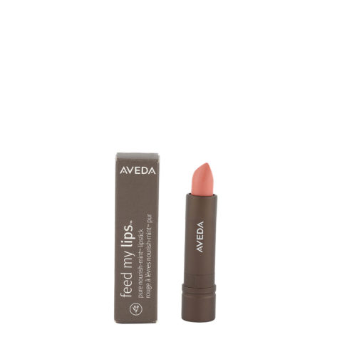 Aveda Feed my lips Pure Nourish Mint Lipstick 3.4gr Papaya 01 - rossetto corallo chiaro glitterato