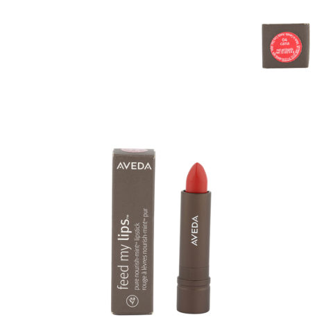Aveda Feed my lips Pure Nourish Mint Lipstick 3.4gr Cana 04 - rossetto rosso arancio intenso