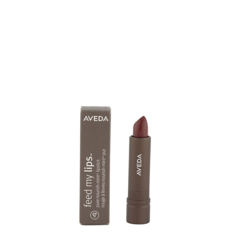 Aveda Feed my lips Pure Nourish Mint Lipstick 3.4gr Morello 06 - rossetto bordeaux caldo intenso