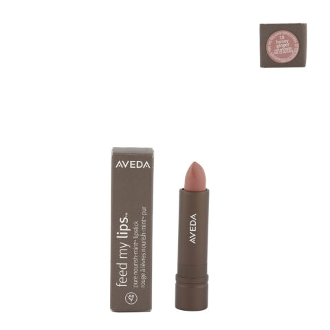 Aveda Feed my lips Pure Nourish Mint Lipstick 3.4gr Honey Ginger 10 - rossetto marrone chiaro rosato