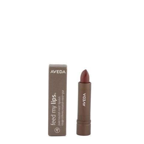 Aveda Feed my lips Pure Nourish Mint Lipstick 3.4gr Cacao Bean 12 - rossetto marrone medio caldo