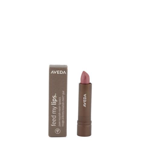 Aveda Feed my lips Pure Nourish Mint Lipstick 3.4gr Sutra 14 - rossetto rosa terra leggermente glitterato