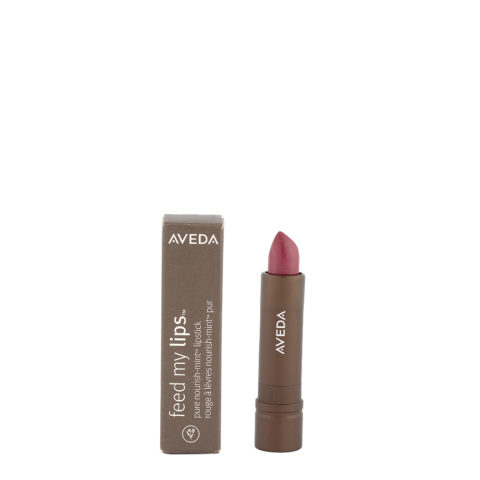 Aveda Feed my lips Pure Nourish Mint Lipstick 3.4gr Sugar Apple 15 - rossetto rosa viola profondo glitterato