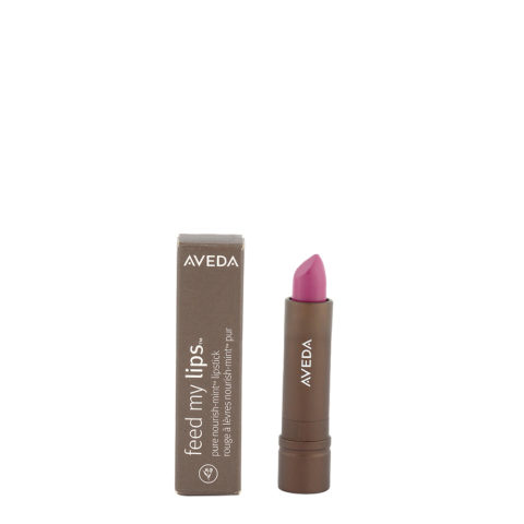 Aveda Feed my lips Pure Nourish Mint Lipstick 3.4gr Passion Fruit 16 - rossetto viola rosa brillante