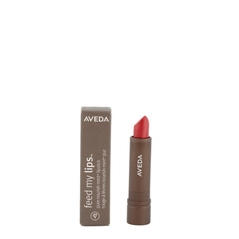 Aveda Feed my lips Pure Nourish Mint Lipstick 3.4gr Jujube 17 - rossetto rosso scuro rosato