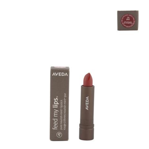 Aveda Feed my lips Pure Nourish Mint Lipstick 3.4gr Goji 20 - rossetto rosso vibrante