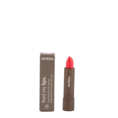 Aveda Feed my lips Pure Nourish Mint Lipstick 3.4gr Watermelon 23 - rossetto rosso rosa brillante