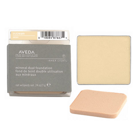 Aveda Mineral Dual Foundation 01 Cream 7gr - fondotinta in polvere