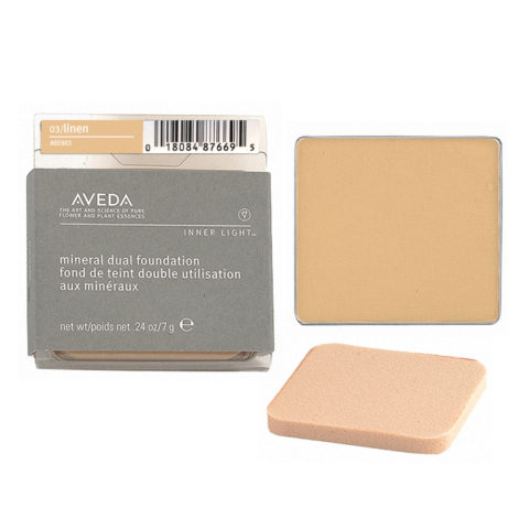 Aveda Mineral Dual Foundation 03 Linen 7gr - fondotinta in polvere