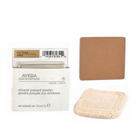 Aveda Mineral Pressed Powder 03 Teak 7gr - cipria compatta tono scuro