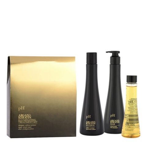 Ph Laboratories Argan & Keratin Illuminating Treatment kit - Kit Per capelli spenti opachi