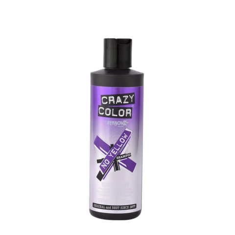 Crazy Color No Yellow Shampoo Ultraviolet 250ml - shampoo antigiallo
