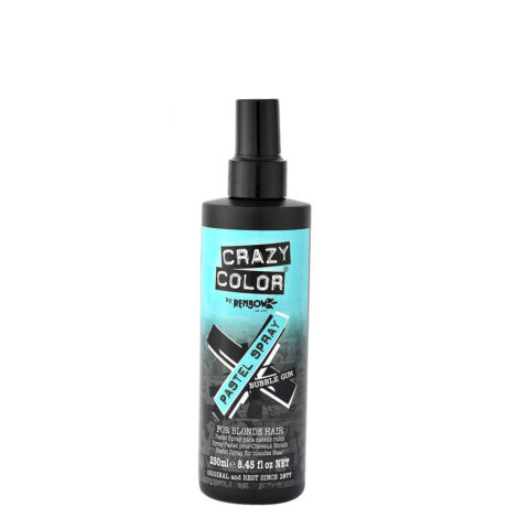 Crazy Color Pastel Spray Bubble Gum 250ml - colore temporaneo spray azzurro pastello