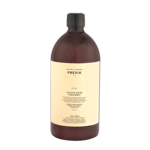 Previa Keeping Organic Green walnut colour shine Treatment 1000ml - maschera capelli colorati