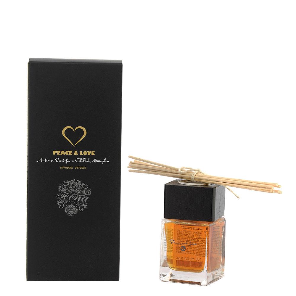 Tecna Peace and Love Home Fragrance 100ml - Diffusore Per Ambiente Zenzero e Vaniglia