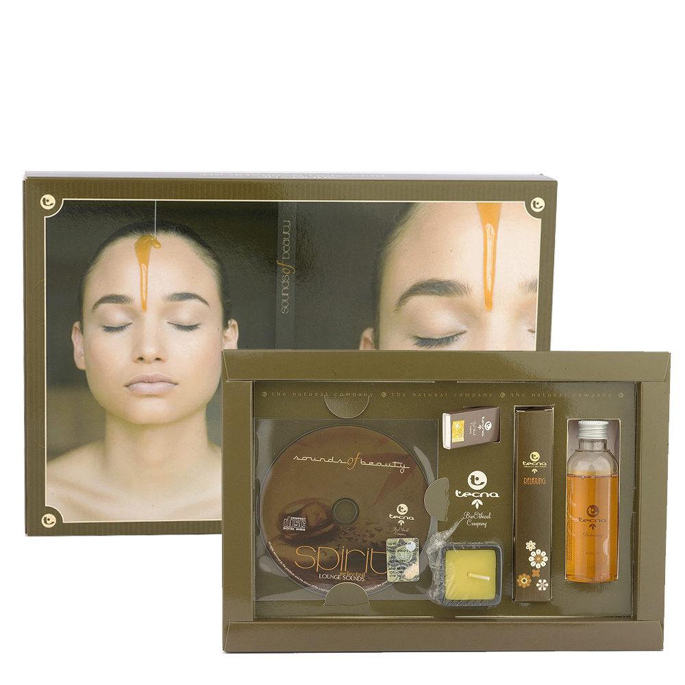 Tecna Relaxing Massage Kit Spirit - Percorso Relax Con Candela, Olio, Incenso E Cd