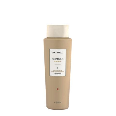 Goldwell Kerasilk Control 1 Keratin Shape Intense 500ml - Trattamento Lisciante Per Capelli Ricci