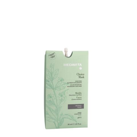 Medavita Lunghezze Choice Mask Argento 30ml - Maschera Nutriente Riflessante