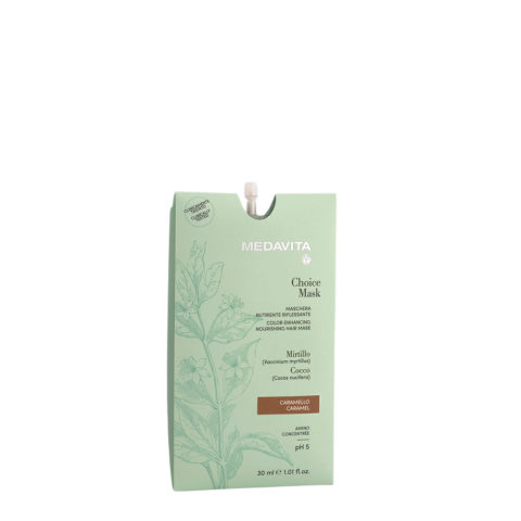 Medavita Lunghezze Choice Mask Caramello 30ml - Maschera Nutriente Riflessante