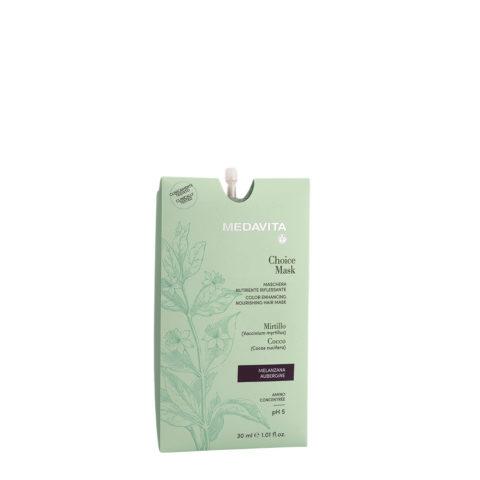Medavita Lunghezze Choice Mask Melanzana 30ml - Maschera Nutriente Riflessante