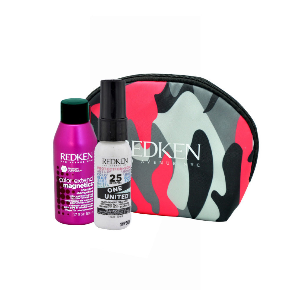Redken Kit Color extend magnetics Shampoo 50ml  One United All in one spray 30ml pochette omaggio