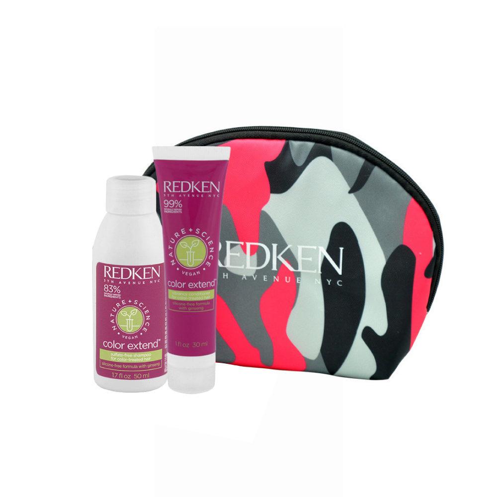Redken Nature + Science Color Extend Shampoo 50ml Conditioner 30ml omaggio pochette
